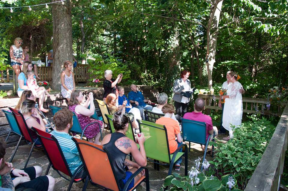Cottage Wedding on the Flagstone Patio