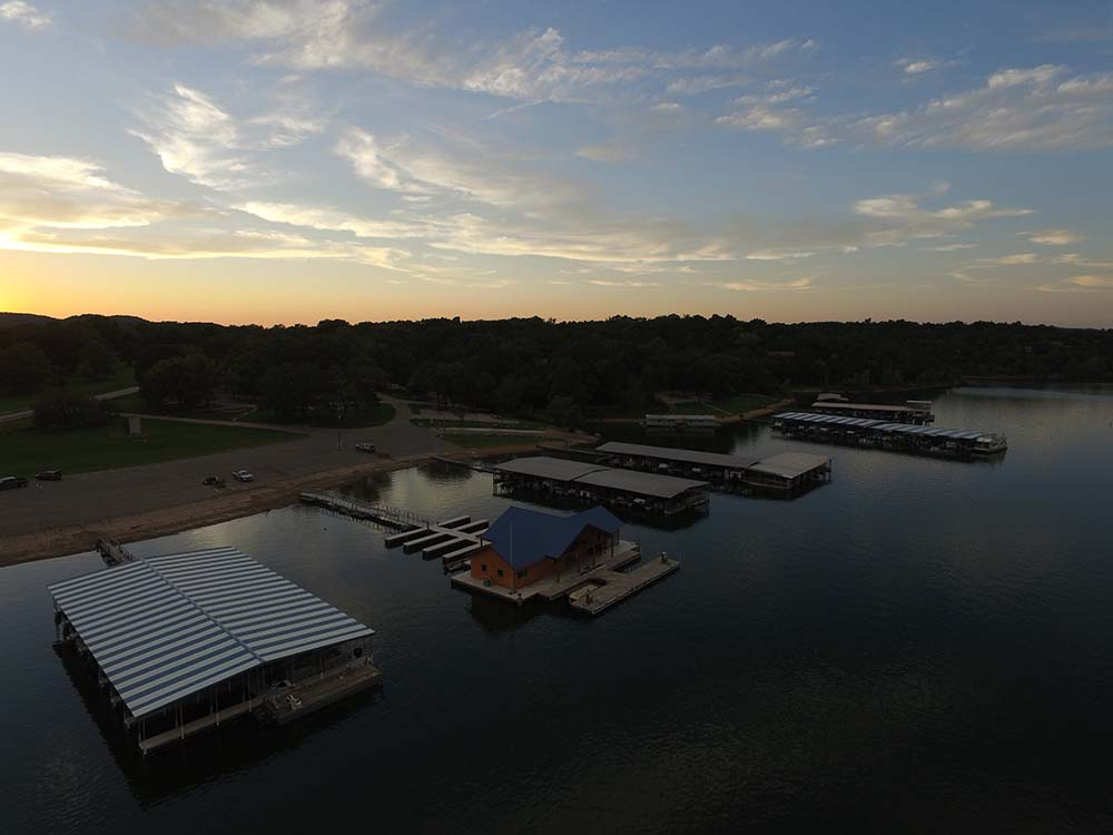 Drone image of the new marina.