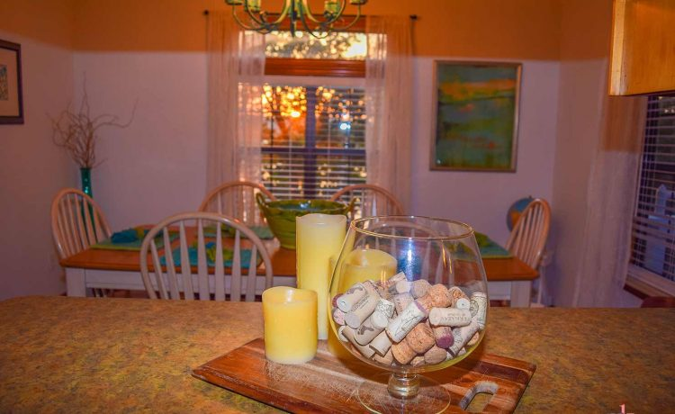 On The Rocks Cottage looking into dining area