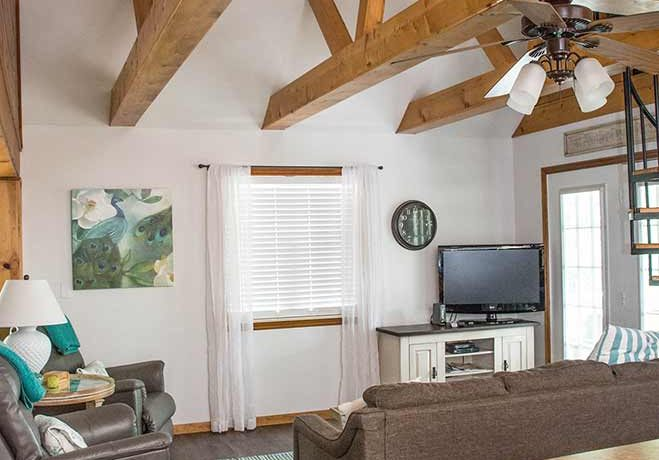 On The Rocks Cottage from Kitchen looking towards living and great room