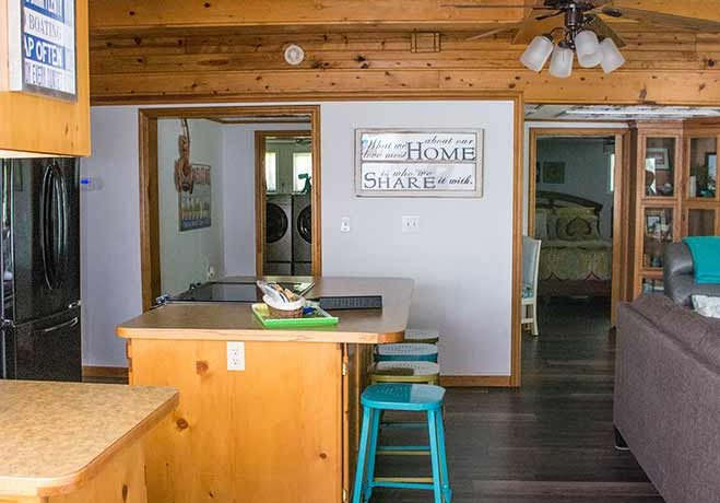 On The Rocks Cottage looking into kitchen